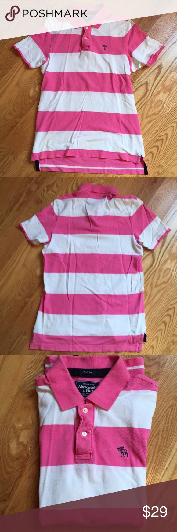 Abercrombie men's short sleeves polo shirt 100% cotton, in great condition Abercrombie & Fitch Shirts Polos
