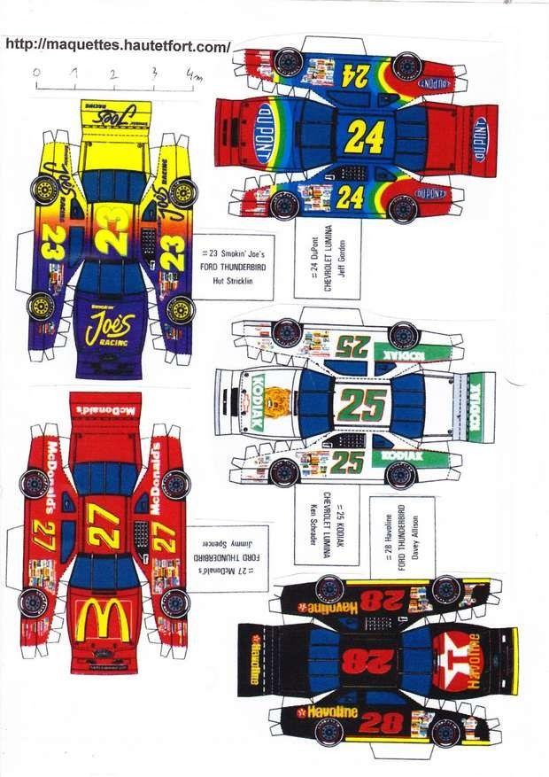 race cars paper models | Voitures Nascar - Maquettes en papier - Paper models ...