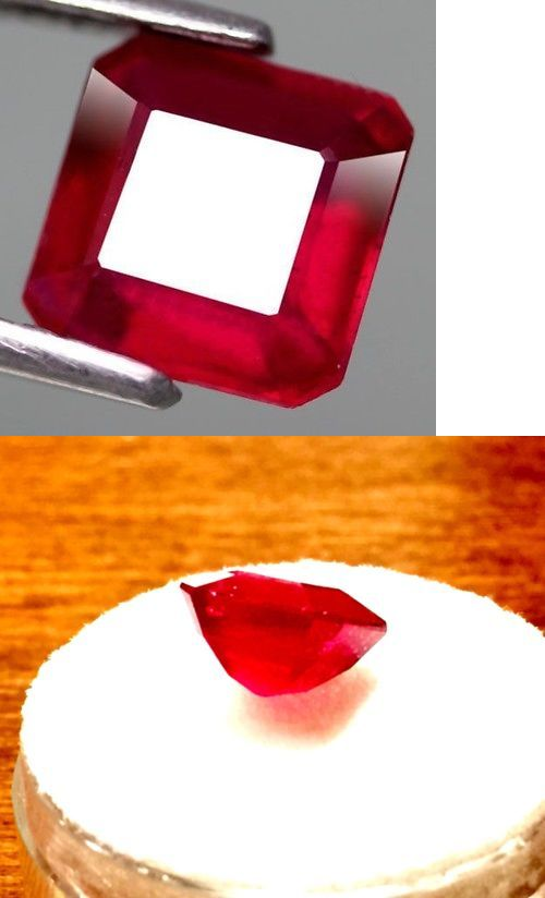 Natural Rubies 3827: Natural Ruby 2.74Ct Unset Asscher Cut Blood Red Rare Cut New Jewelry Faceted Usa -> BUY IT NOW ONLY: $65 on eBay!