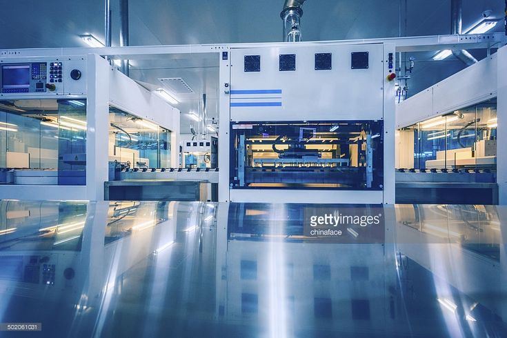 Stock Photo : solar panel manufacturing