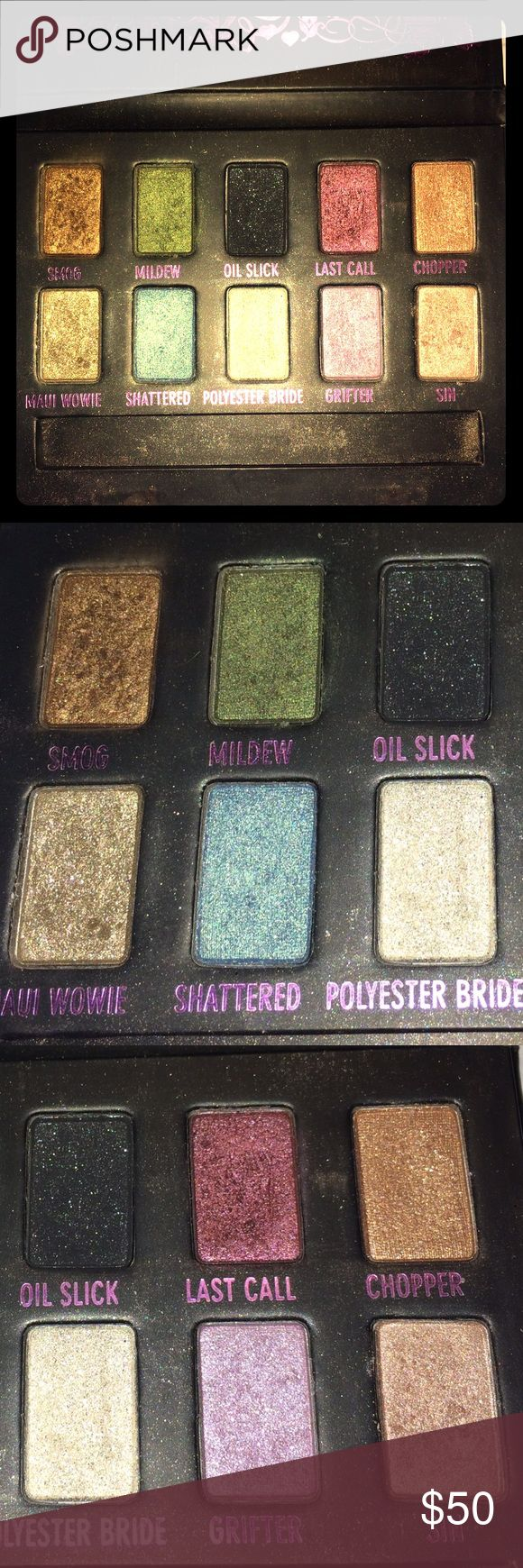 UD AMMO Palette 10 gorgeous glittery eyeshadows. Urban decay ammo palette. Very pigmented and barely used. No brush. Urban Decay Makeup Eyeshadow