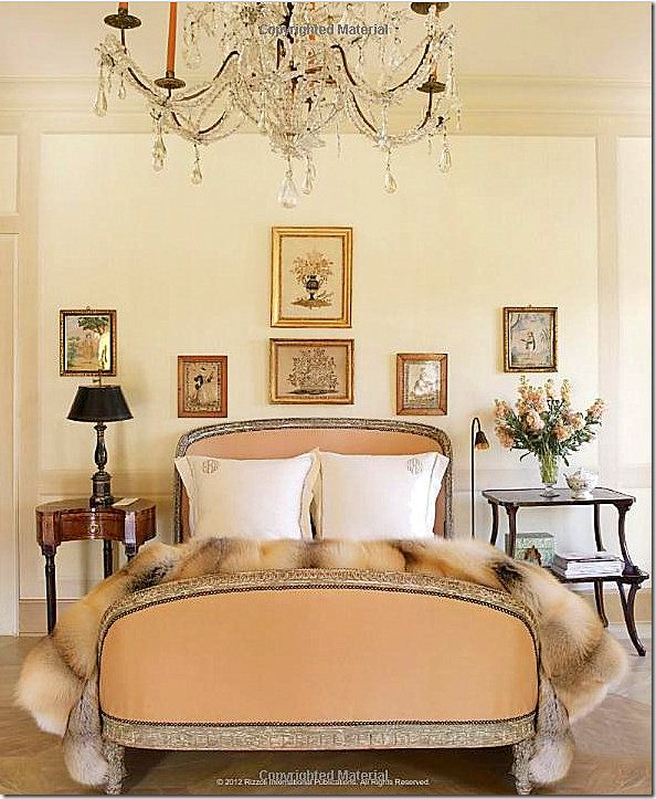 Fur throws are a must! #TaiganFinds This room is beautiful