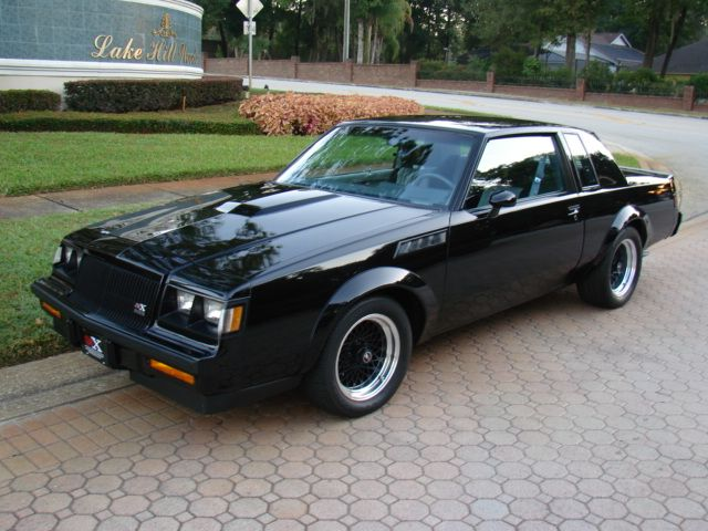 1987 Buick GNX. Yup this grandpa car is fast as hell. V6 Turbo, runs high 12s in quarter mile right out of the factory.