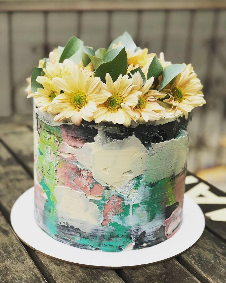 Decocake buttercream flores torta decorada