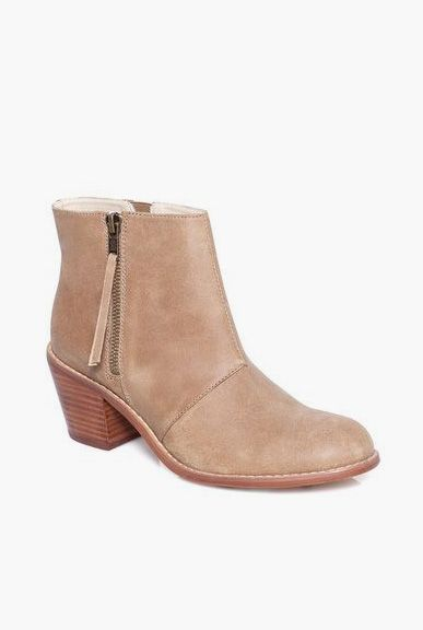 Rosaline soft nubuck leather bootie