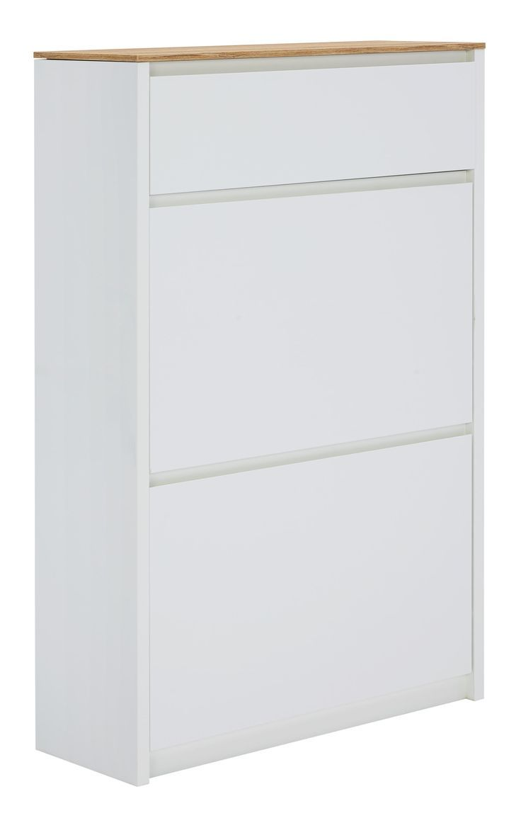 Schuhkipper Hochglanz Lackiert Bedruckt Weiß Eichefarben Bedruckt Eichefarben Hochgla Cabinet Filing Cabinet Storage