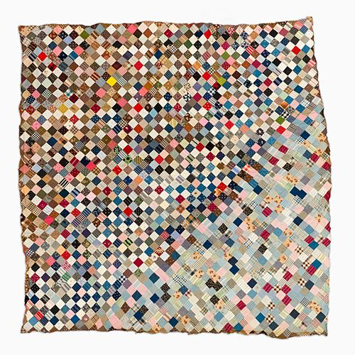 Unique Quilt Top – One patch | Minge, Pat Nichols collection iCreation Date: c. 1880-1920 Media And Support: Cotton Dimensions: 86 in. x 86 in