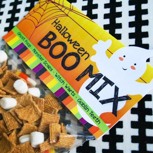 """Halloween """"Boo Mix""""-- ghost poop, witch warts, goblin teeth, monster scabs...Also good for bringing team snacks in October."""