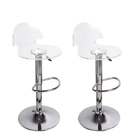 furnistars transparent acrylic bar stools set of two