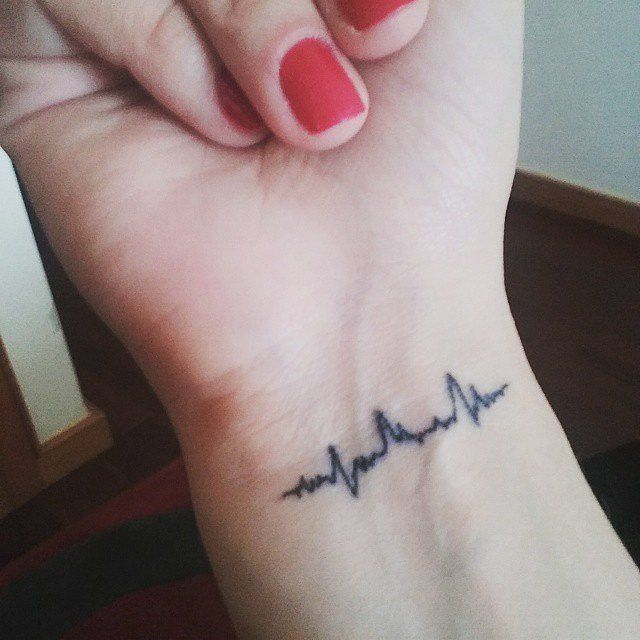 Baby's Heartbeat // Heartbeat Tattoo Ideas