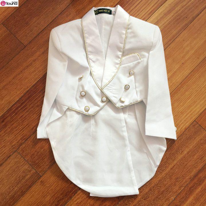 New Arrival Smart Gold Edge Boy s Wedding Party Suit Boy s 5 piece Set Tuxedo. Click visit to buy #WeddingPartyDress #wedding #party #dress