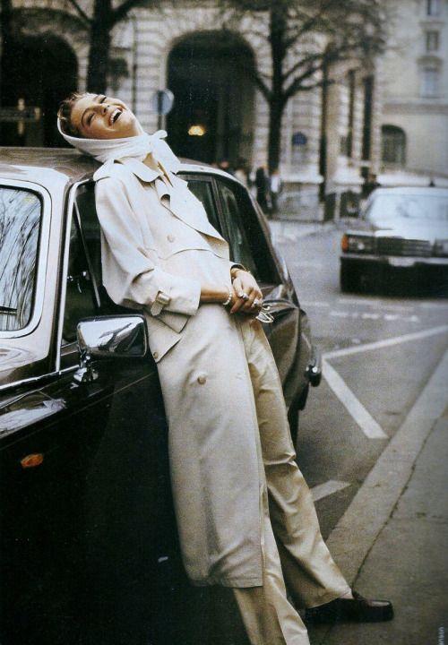 """80s-90s-supermodels: """"La Seductrice en Blanc Absolument"""", ELLE... (Crush Cul de…"""