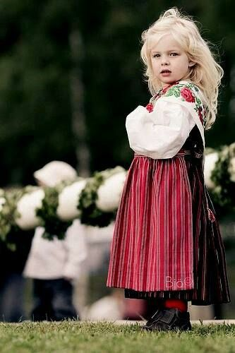 blonde child of ancient Scandinavia
