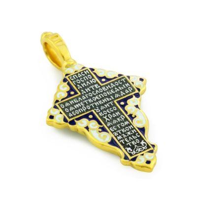 Приобрести Крест нательный с эмалью из серебра KRSPE0801 по приятной цене от ЮК 'Деревцов'