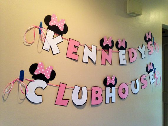 Minnie Mouse Clubhouse Banner Personal by CutestBowsOnTheBlock