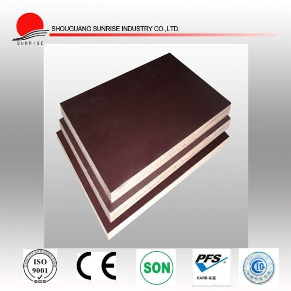 12 mm / 18 mm / 21 mm brown film faced concrete shuttering plywood cheap price