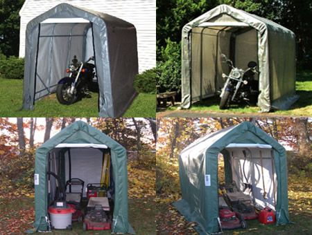 Motorcycle Storage Shed 5Wx10Lx8H
