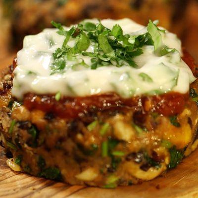 The Happy Pear's Black bean, squash & roasted garlic burgers