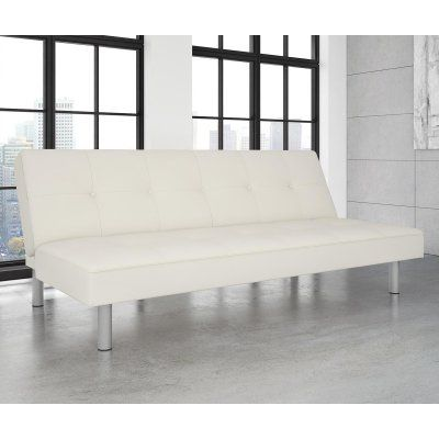 DHP Nola White Faux Leather Futon - 2051109