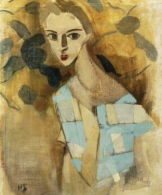 1927 Helene Schjerfbeck (1862-1946) Girl from Eydtkuhnen II