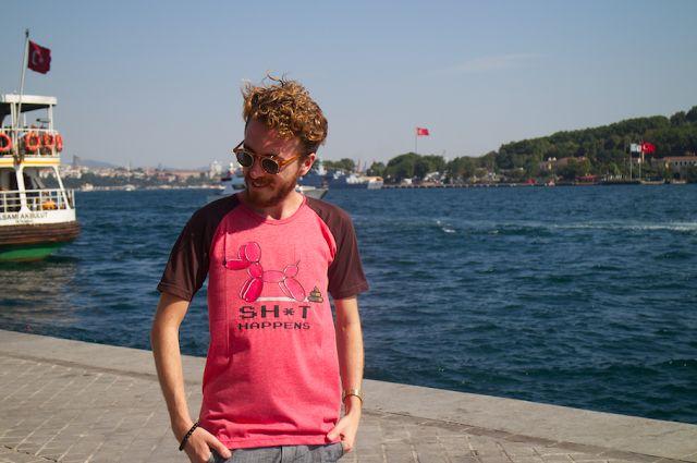 His Wardrobe  - Ben Göze - wearing 'Life' a tshirt with attitude! ;)