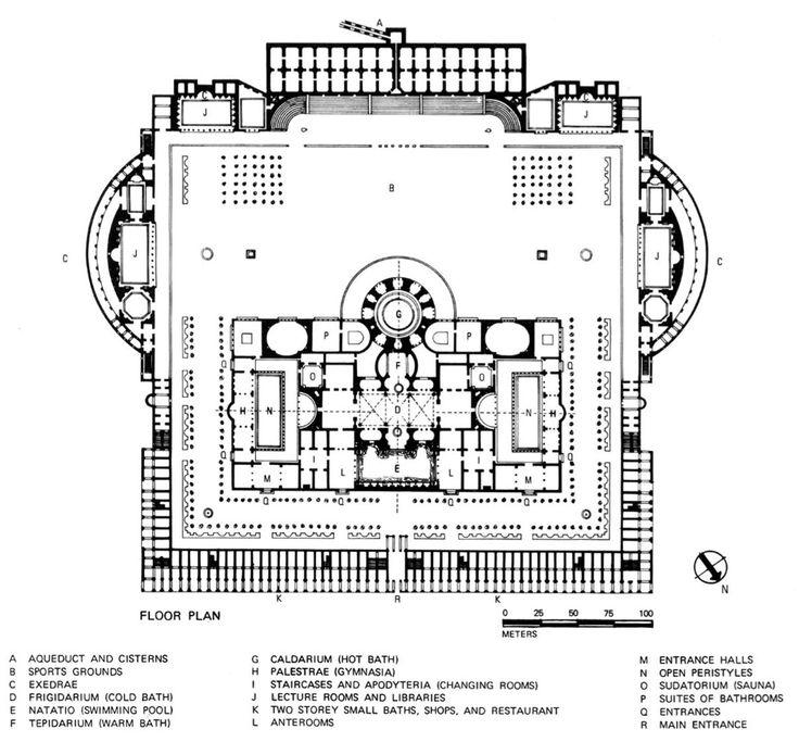 baths of caracalla reconstructed floor plan