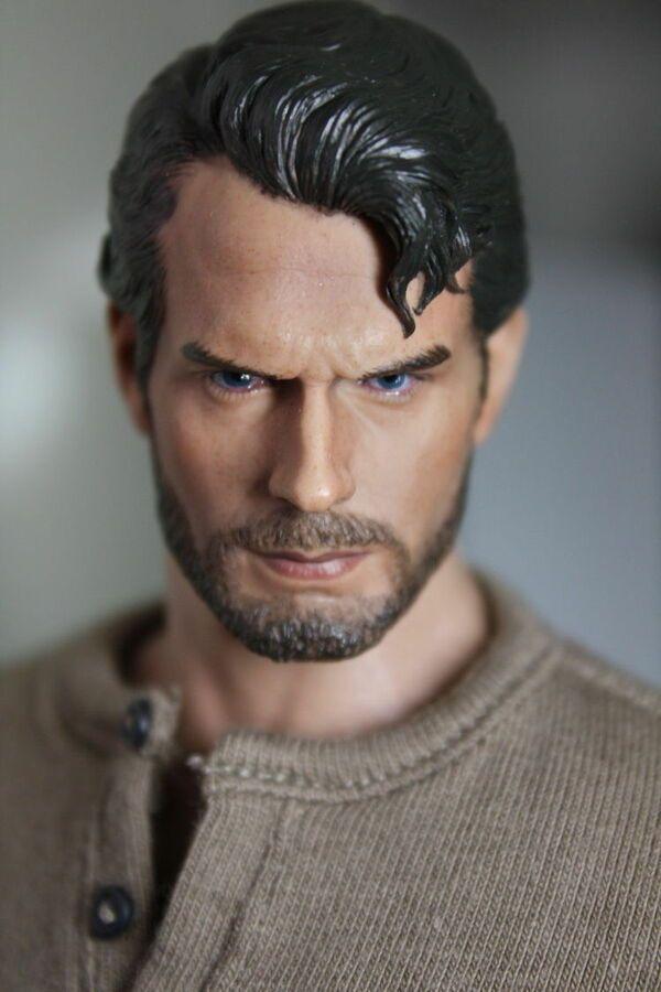 "1//6 Scale Superman Henry Cavill Carving Head Sculpt Model F 12/"" Male Figure Body"