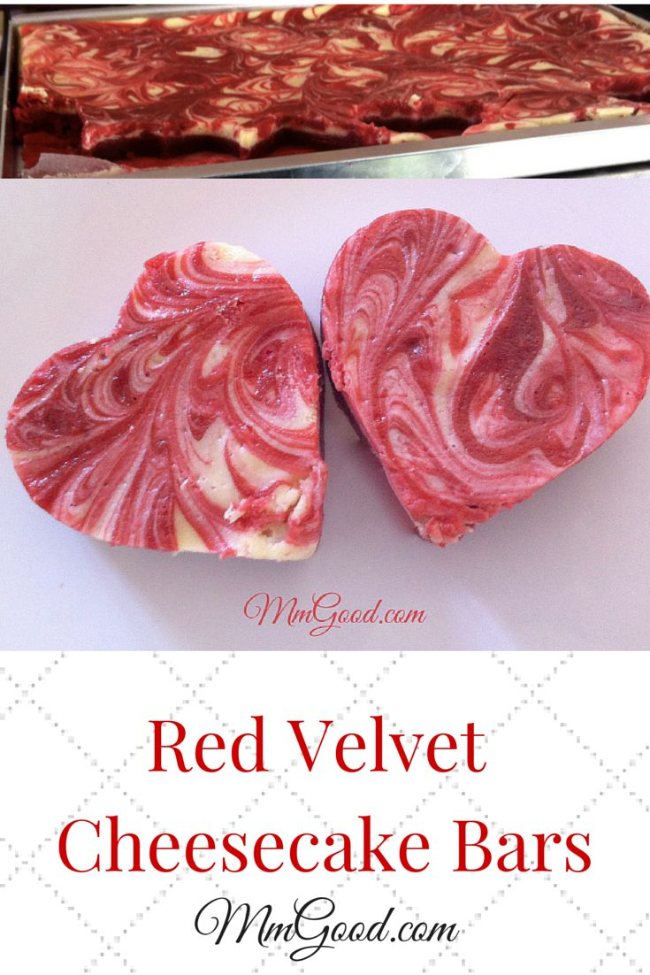 Perfect for Valentines Day, my recipe for red velvet cheesecake bars may take a little time to put together but they are well worth it, spoil your loved one this year | MmGood.com