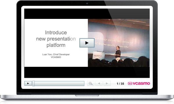 VCASMO – prezentacje bezpośrednio na stronie internetowej lub blogu. Oprócz zwykłego udostępniania prezentacji, serwis umożliwia także jednoczesne pokazywanie filmu i prezentacji multimedialnej