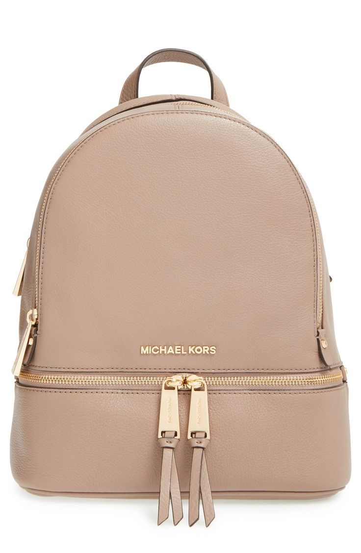 e5ad7de64a21 Free shipping and returns on MICHAEL Michael Kors  Small Rhea Zip  Leather  Backpack at Nordstrom.com. Gleaming exposed zippers illuminate the compact  ...