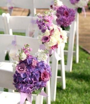 WEDDING PLANNER. Special: Boda al aire libre: arreglos de flores para las sillas