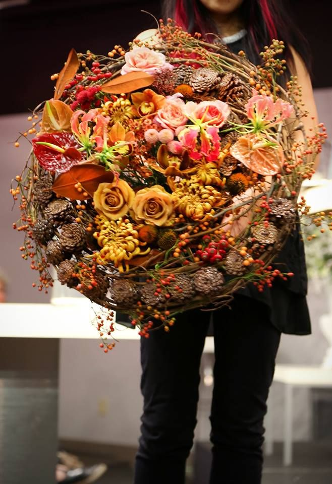 Per Benjamin Demo show in Vancouver at Kirby Floral Wholesale