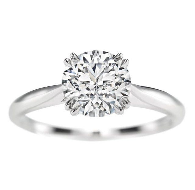 Harry Winston | Products | Engagement | Diamond Rings | Harry Winston Round Brilliant Solitaire