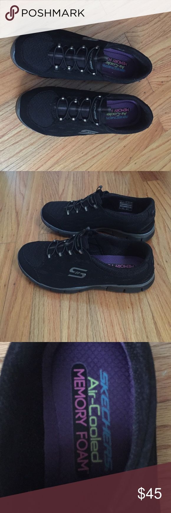 BRAND NEW! Black Skechers Sneakers Brand new & never worn! Without tags or box. Size 8. Black Skechers sneakers - they are very comfortable. Skechers Shoes Sneakers