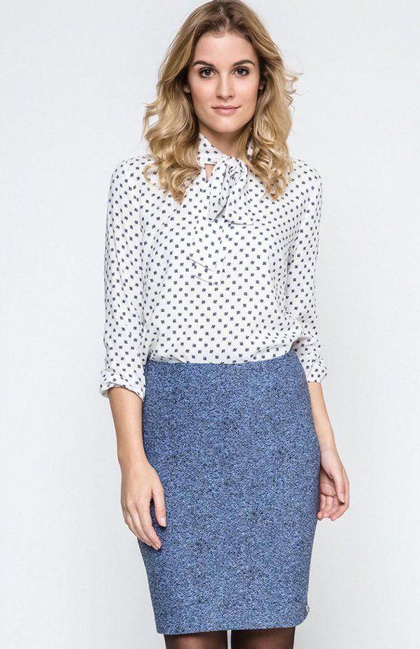 Ennywear 240131 spódnica Elegancka spódnica w świetnym zestawieniu kolorystycznym, dopasowany krój, w pasie wygodna, szeroka guma
