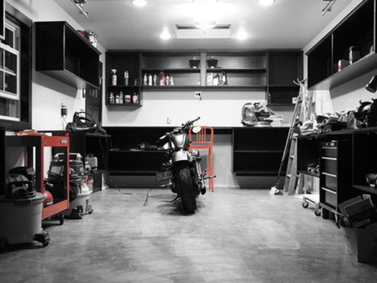 50 best motorcycle garages man caves images on pinterest for Garage daf tours