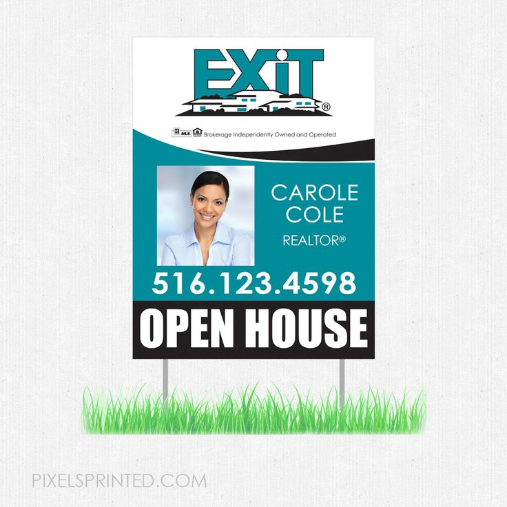 arrow shaped real estate yard signs, real estate lawn signs, realtor yard signs, realtor lawn signs, EXIT real estate yard sign, EXIT real estate lawn sign