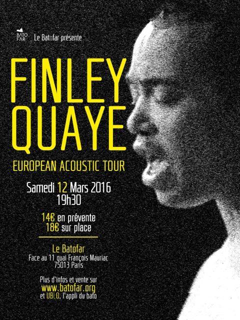 Résultats concours Finley Quaye : des places de concert gagnées !