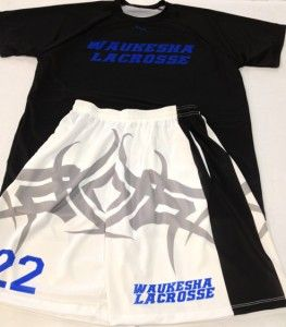 Custom lacrosse uniforms made to order in Maryland USA by Lightning Wear Apparel.