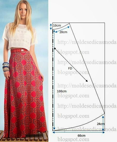 "Moldes Moda por Medida: SAIA FÁCIL DE CORTAR E FAZER Question: What does ""FD"" stand for on this diagram?"