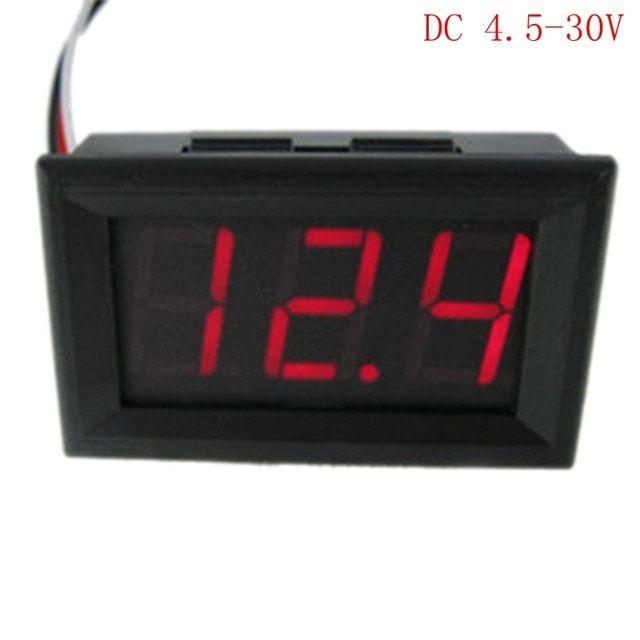 Urijk 1pc Dc4 5v 30 0v Digital Voltage Meters Current Voltage Detector Battery Tester Voltmeter Ammeter Charger Doctor Accuracy Rev Digital Red Led Led Voltage