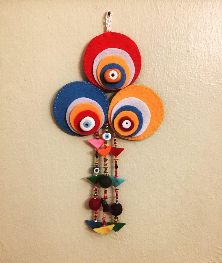 nazarlık, amulet, felt, feltro, felt amulet, turkish eye, design, handmade