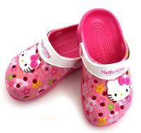 Hello Kitty Kids Clogs Slippers Shoes for Girls Casual Pink US Size 11 Summer Beach Pool Spa Water CROCS Style