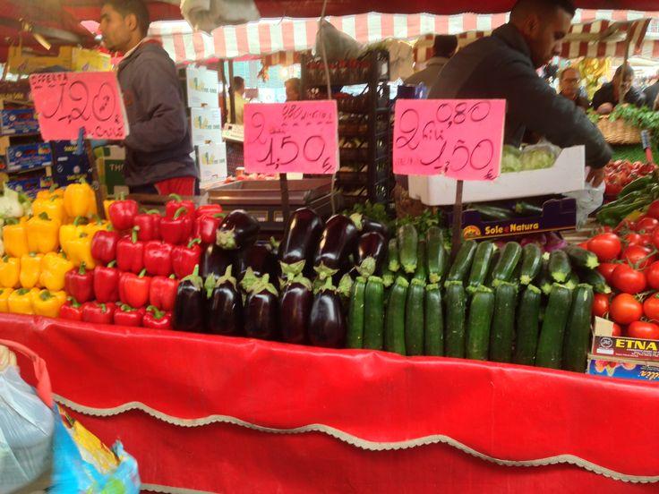 Vegetable store at Porta Palazzo market