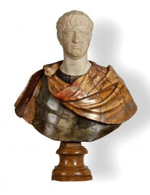 35006584. Busto romano, siglos XVII – XVIII. Mármol. Medidas: 85 x 65 x 35 cm.