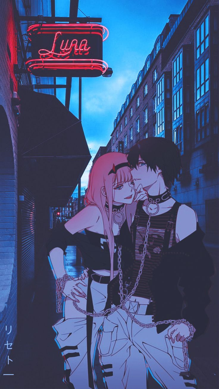 Zero Two Hiro Wallpaper With Images Cute Anime Wallpaper