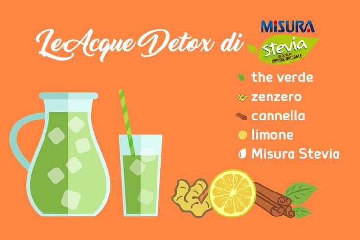 Provate quest'acqua detox, velocizza il metabolismo in modo naturale! Con qualche goccia di Misura Stevia liquido diventa ancora più buona.