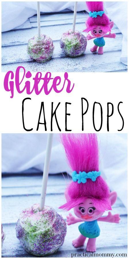 How To Make Glitter Cake Pops Like A Troll. Recipe inspired by the Dreamworks movie Trolls.