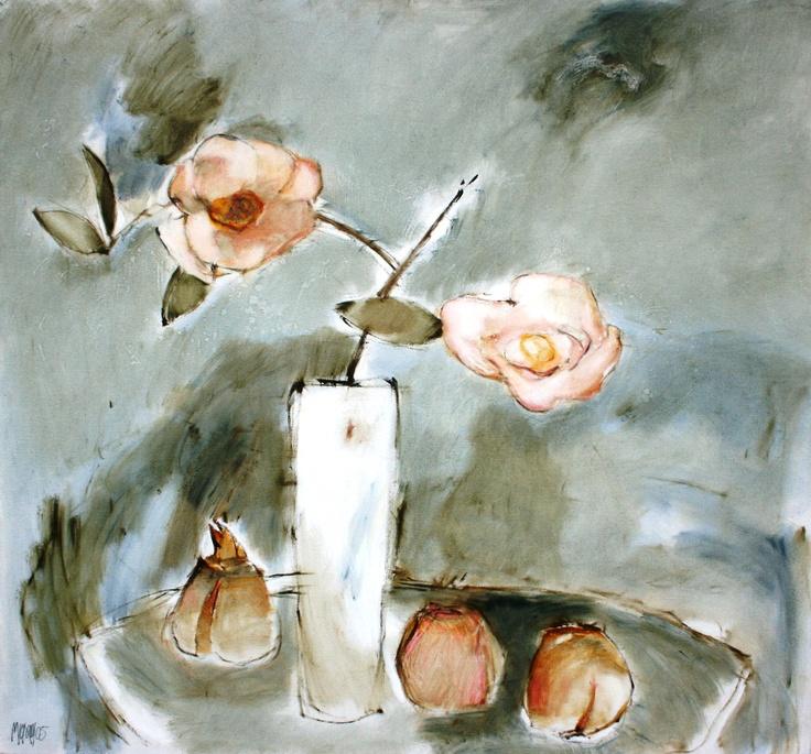 Camelias and light pomegranates: R68800 - Alice Art Gallery