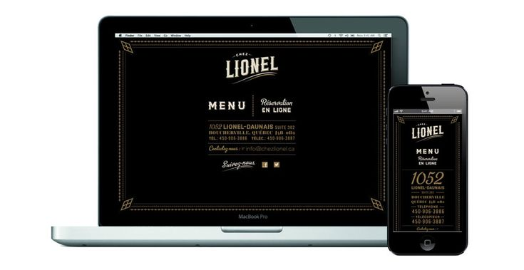 Awesome old style yet modern branding for Chez Lionel